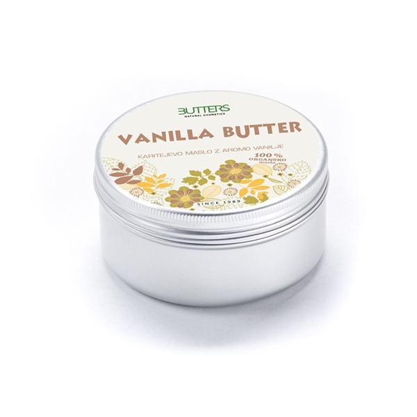 Ekološko karitejevo maslo z vanilijo 100ml