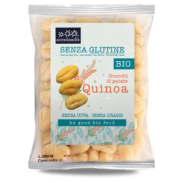 Ekološki brezglutenski krompirjevi njoki s kvinojo 500g